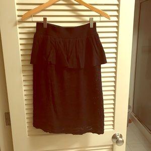 Anthropologie knitted peplum skirt